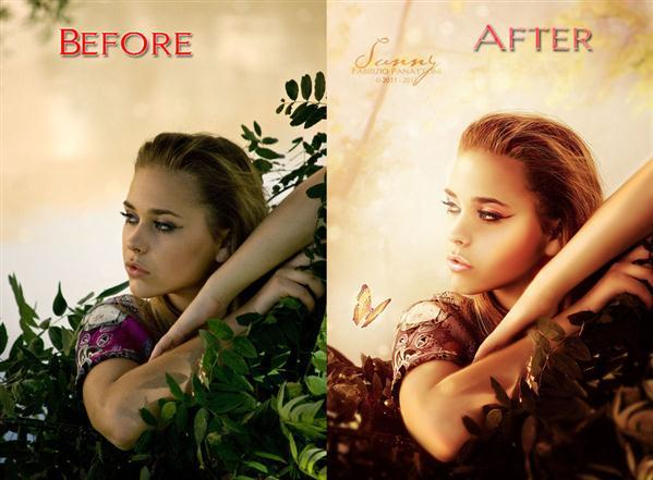 Portrait Retouch in Photoshop Before After