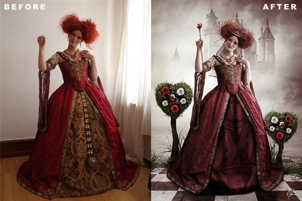 Queen Of Hearts Photo Manipulation