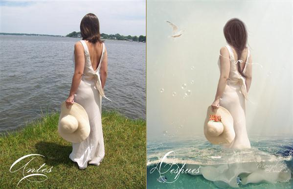 Summer Breeze Before After Photo Manipulation