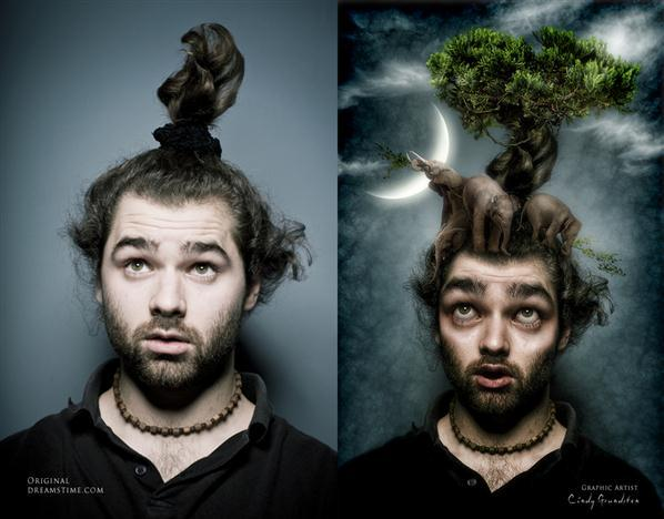 Surreal Photoshop Artwork Before After