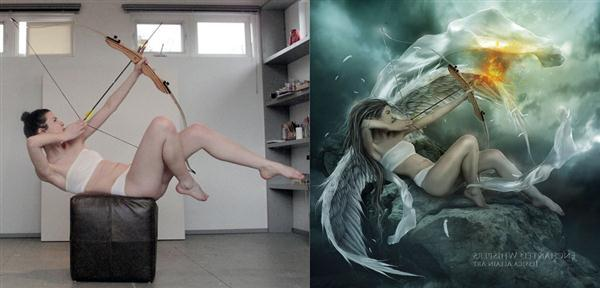 The Guardian Angel Before and After Photoshop Manipulation