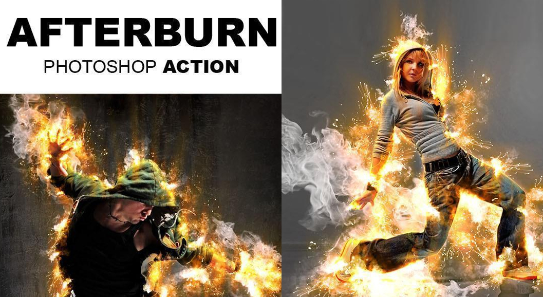 Afterburn Photoshop Fiery Effect