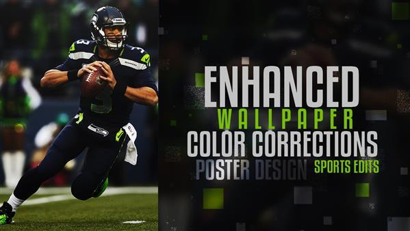 American Football Enhanced Wallpaper Photoshop Tutorial