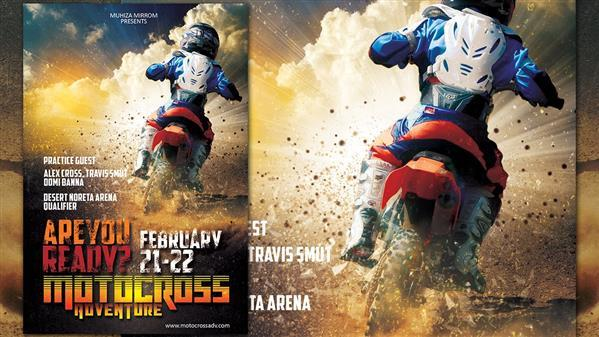 Awesome Explosive Motocross Wallpaper Photoshop Tutorial