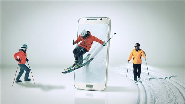Create Ski and Winter Sports Wallpaper Photoshop Tutorial