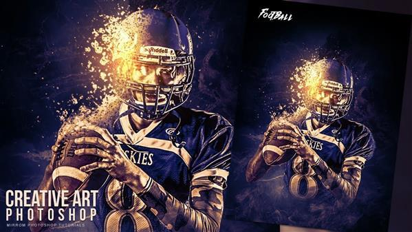 Creative American Football Sporting Poster Photoshop Tutorial
