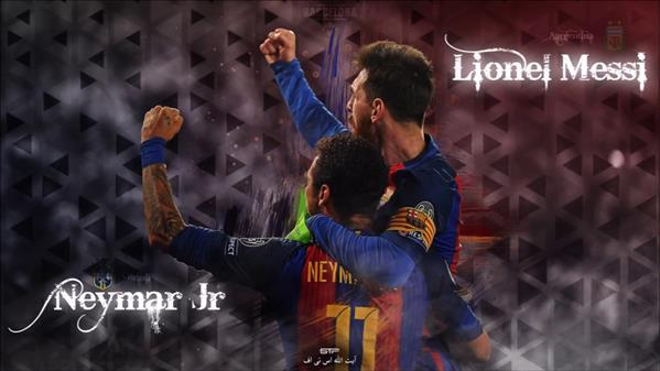 Messi and Neymar Barcelona Photoshop Wallpaper Tutorial