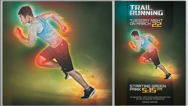 Running Sports Event Poster Photoshop Tutorial