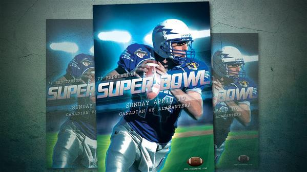 Sports Event American Football Poster Photoshop Tutorial