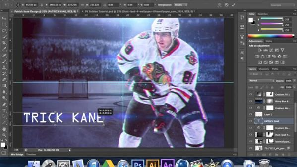 Sports Poster Photoshop Tutorial For Hockey