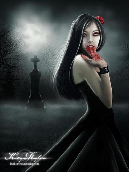 Blood Vampire Queen Photoshop Artwork