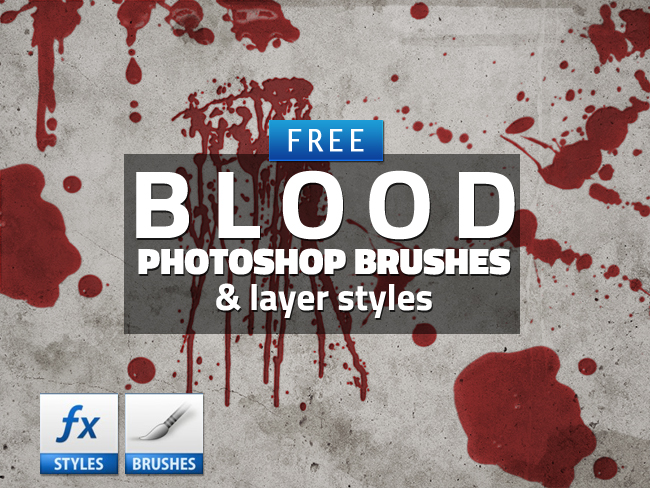 blood drip brushes Photoshop brushes free download