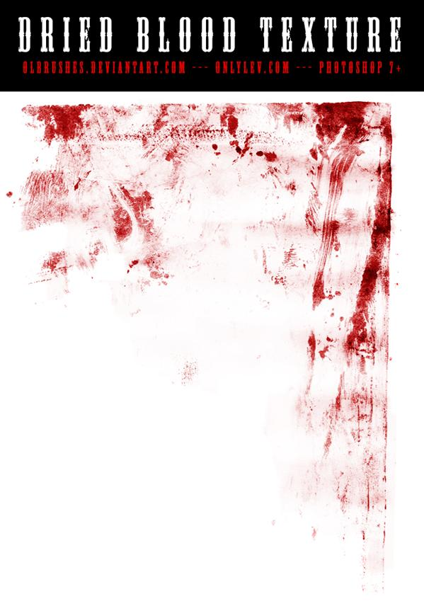 Blood Texture 01 onlylevcom by olbrushes photoshop resource collected by psd-dude.com from deviantart