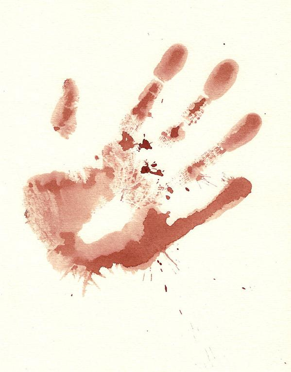 Bloody Hand Print Stock by Enchantedgal-Stock photoshop resource collected by psd-dude.com from deviantart