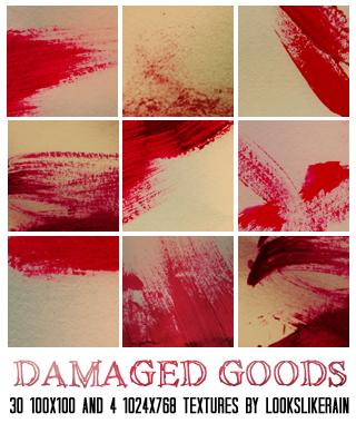 Damaged Goods by lookslikerain photoshop resource collected by psd-dude.com from deviantart