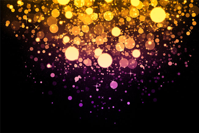 Bokeh Background Photoshop Overlay with Sparkle Efffect