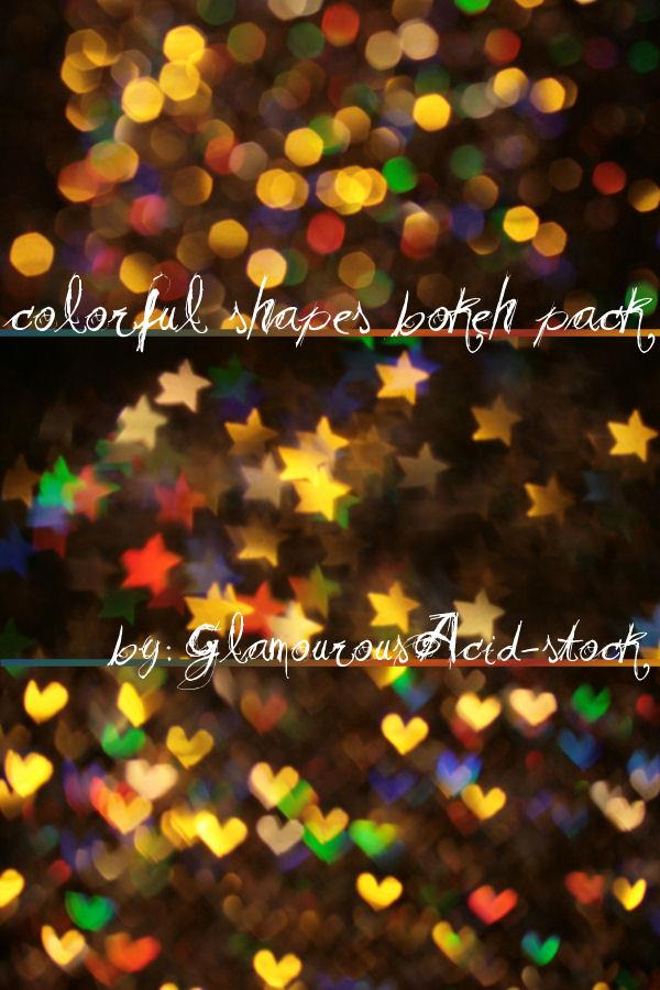 colorful shapes bokeh pack by TrishaMonsterr-stock photoshop resource collected by psd-dude.com from deviantart