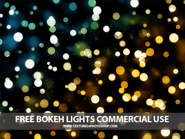 Free Bokeh Lights Texture Photoshop Overlay