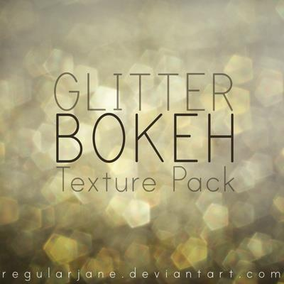Glitter Bokeh Texture Pack by regularjane photoshop resource collected by psd-dude.com from deviantart