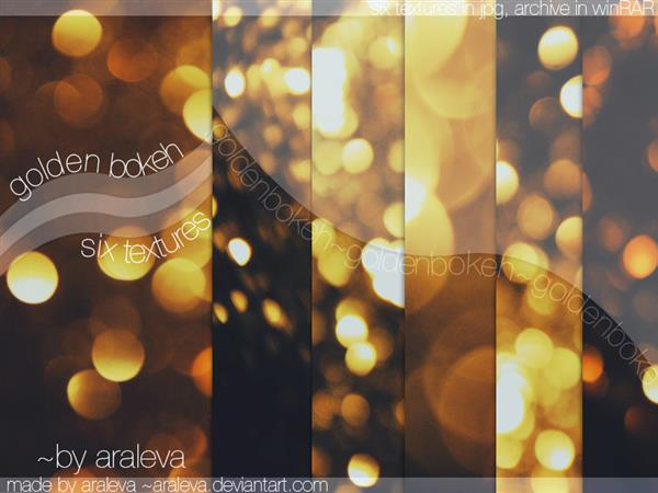 Golden bokeh by Araleva photoshop resource collected by psd-dude.com from deviantart