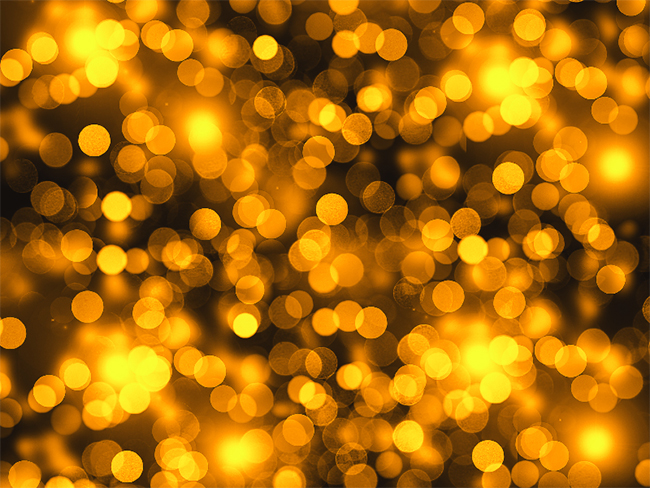 Golden Lights Bokeh Texture for Free