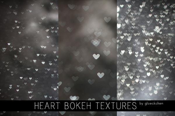 Heart Bokeh Textures by gloeckchen photoshop resource collected by psd-dude.com from deviantart