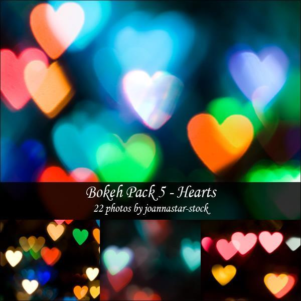 Heart Colorful Bokeh Backgrounds