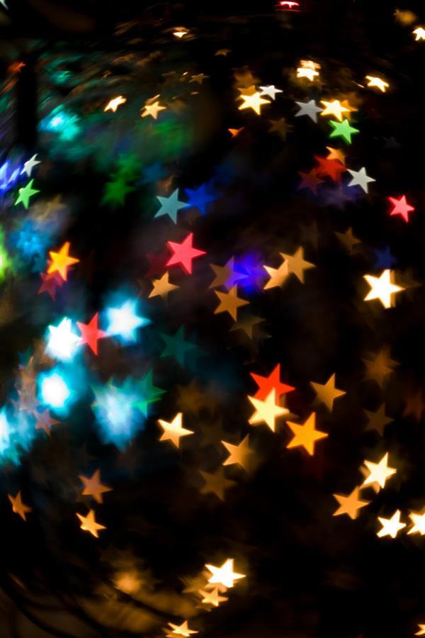 Star Night Lights Free Background