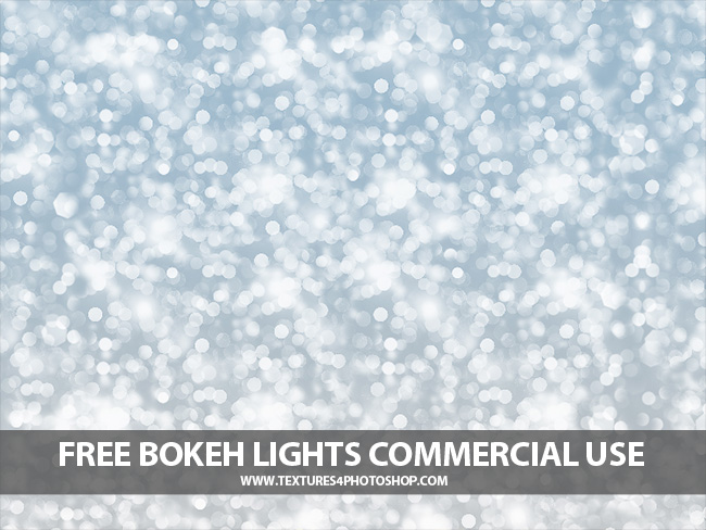 White Christmas Bokeh Lights Texture Background