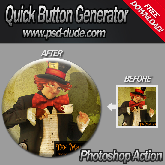 Button Generator Photoshop Action