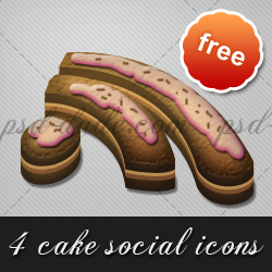 Cake Icons for Social Networking psd-dude.com Resources
