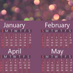 Calendar Photoshop PSD Free Template psd-dude.com Resources