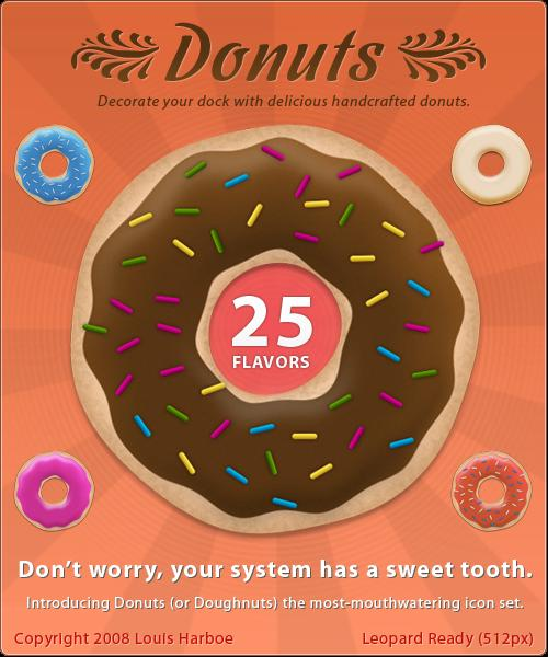 Donuts by lharboe photoshop resource collected by psd-dude.com from deviantart