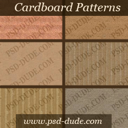 Cardboard Seamless Patterns for Photoshop psd-dude.com Resources