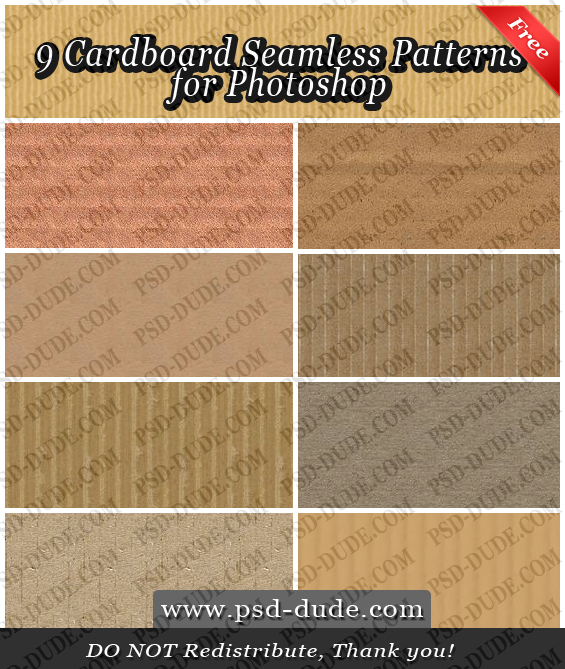 Cardboard Seamless Patterns