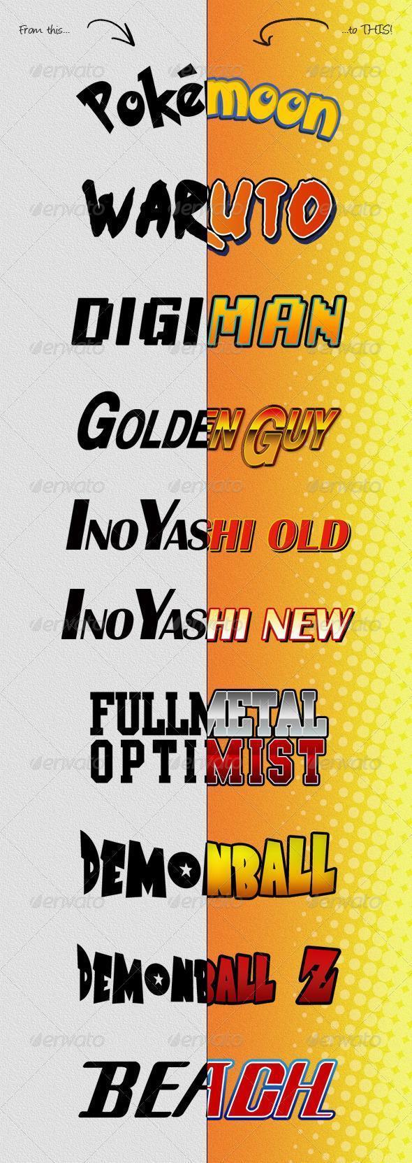 Anime and Manga Photoshop Styles