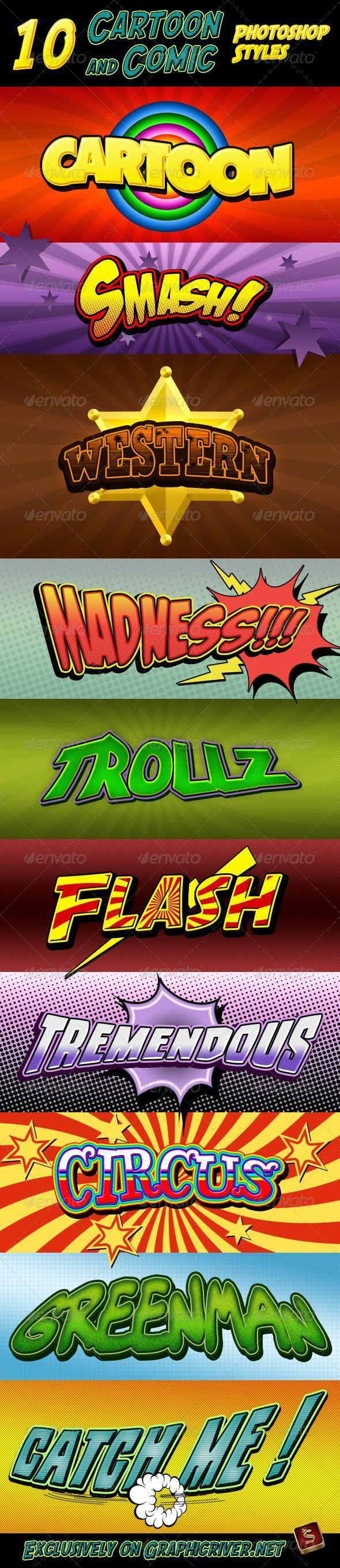 Cartoon Comic Photoshop Styles