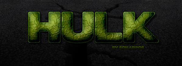 Hulk Comic Book Text Style