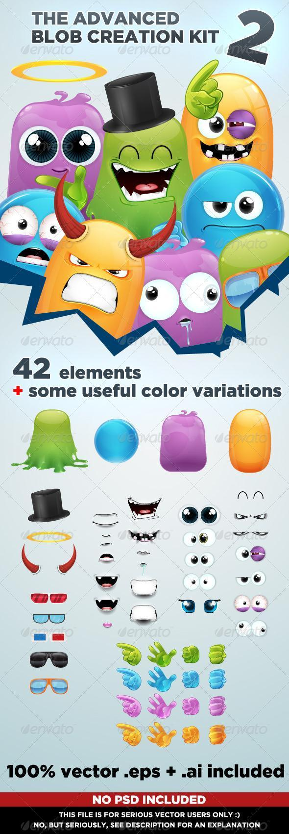 Blob Character Creation Kit With PSD File