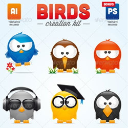 Cartoon Character Creation Kit PSD Files psd-dude.com Resources