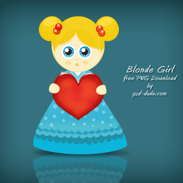 Blonde Cartoon Girl by psd-dude photoshop resource