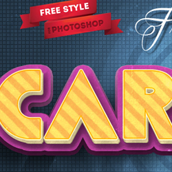 3D Cartoon Text Effect Photoshop Freebie psd-dude.com Resources