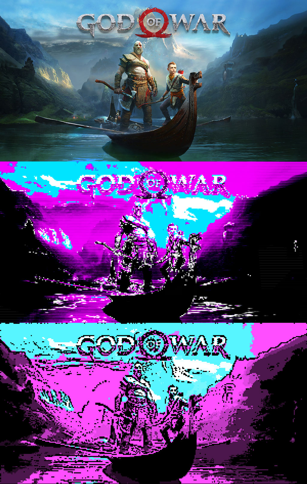 God Of War CGA 80s Poster