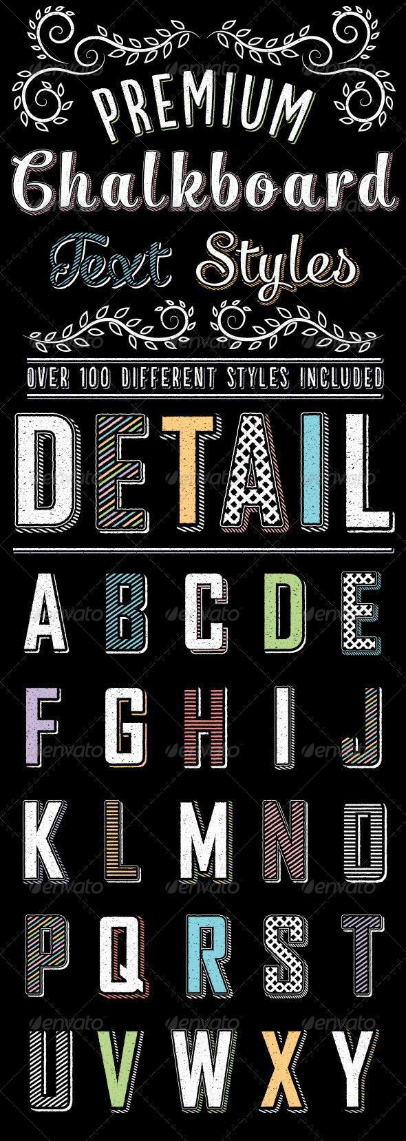 Chalk Illustrator Text Styles