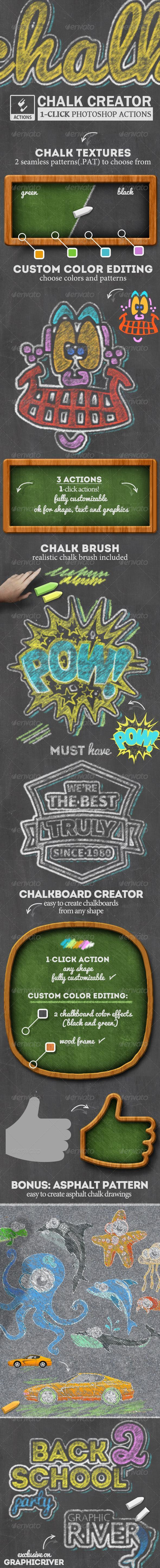 Chalk Style and Chalkboard Photoshop Creator