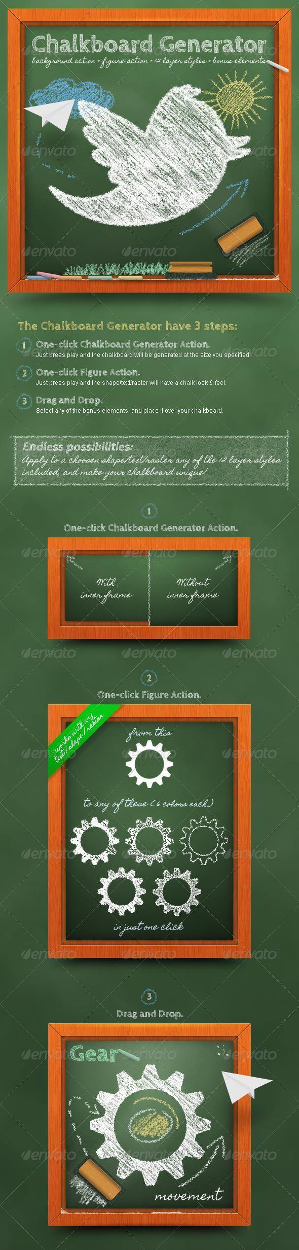 Chalkboard Generator Photoshop Action
