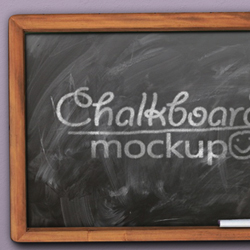 Chalk Photoshop Effect and Chalkboard Mockup with Free PSD psd-dude.com Resources