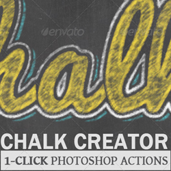 Chalk and Chalkboard Photoshop Styles and Actions psd-dude.com Resources