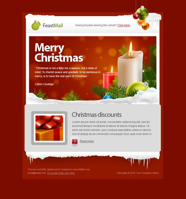 Christmas and Corporate Mail Template | 14$