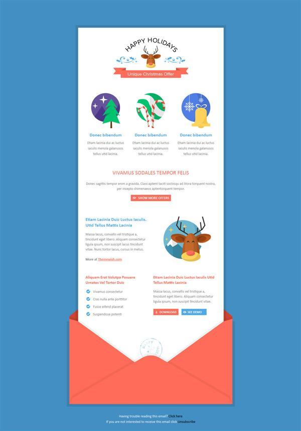 Christmas and Winter Holidays Newsletter Template | 16$